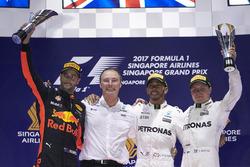 Podium: 1. Lewis Hamilton, Mercedes AMG F1; 2. Daniel Ricciardo, Red Bull Racing; 3. Valtteri Bottas, Mercedes AMG F1