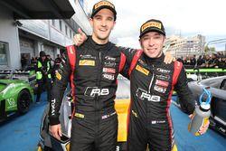 Race winners and champions #17 Belgian Audi Club Team WRT Audi R8 LMS: Stuart Leonard, Robin Frijns
