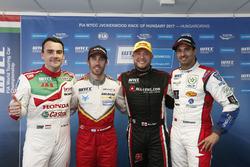 Conferencia de prensa Norbert Michelisz, Honda Racing Team JAS, Honda Civic WTCC, Esteban Guerrieri,