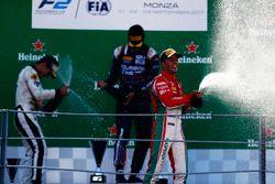 Podium: Luca Ghiotto, RUSSIAN TIME Sergio Sette Camara, MP Motorsport and Antonio Fuoco, PREMA Power