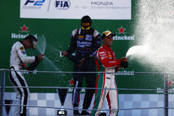 Podium: Luca Ghiotto, RUSSIAN TIME, Sergio Sette Camara, MP Motorsport et Antonio Fuoco, PREMA Powerteam