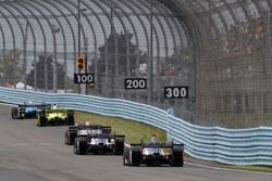 Tony Kanaan, Chip Ganassi Racing Honda, Simon Pagenaud, Team Penske Chevrolet, Will Power, Team Pens