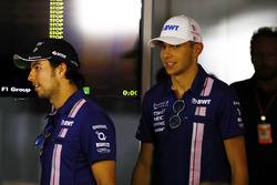 Press conference: Esteban Ocon, Force India, Sergio Perez, Force India