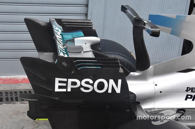 Aileron arrière de la Mercedes AMG F1 W08