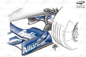 Williams FW25 front wing endplate canard (split into two)