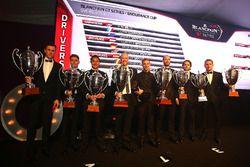 2016 Endurance Cup Overall Drivers, Côme Ledogar, Rob Bell, champions, Dominik Baumann, Maximilian Buhk, Jazeman Jafaar, 2nd place, Andy Soucek, Maxime Soulet, Wolfgang Reip, 3rd place