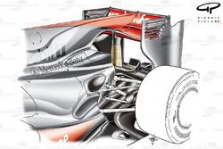 McLaren MP4-25 2010 rear wing with f-duct