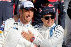 Jenson Button, McLaren F1 und Felipe Massa, Williams F1 Team