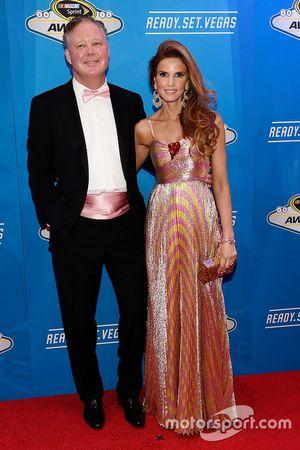 NASCAR Presidente y director ejecutivo Brian France y su esposa Amy