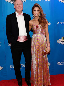NASCAR Chairman and Chief Executive Officer Brian France and his wife Amy