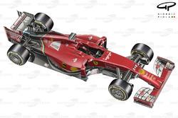 DUPLICATA : Vue de 3/4 de la Ferrari F14 T