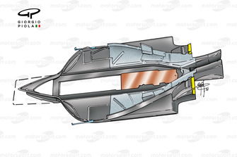 Fond plat de l'Arrows A22