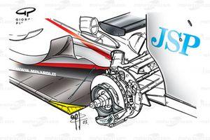 Minardi PS03 2003 Monaco floor development