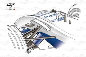 Williams FW26 2004 nose-mounted fins