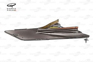 Ferrari F2004 splitter, ballast mounted inside keel section