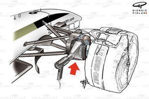 BAR 006 front brake heating gun