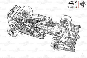 Benetton B186 1986 detalle