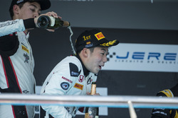 Podium: Nirei Fukuzumi, ART Grand Prix, George Russell, ART Grand Prix