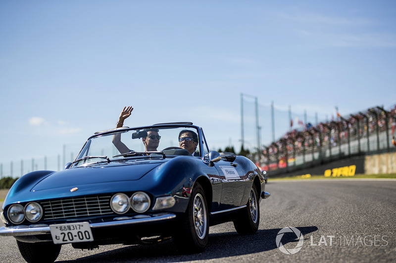 Pascal Wehrlein, Sauber on the drivers parade