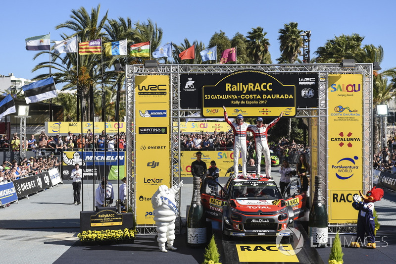 Les vainqueurs, Kris Meeke et Paul Nagle, Citroën C3 WRC, Citroën World Rally Team