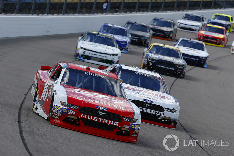 Райан Рид, Roush Fenway Racing Ford и Сэм Хорниш-мл., Discount Tire Ford Mustang