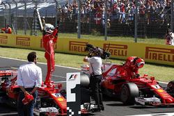 Sebastian Vettel, Ferrari SF70H, Kimi Raikkonen, Ferrari