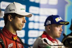 Lucas di Grassi, ABT Schaeffler Audi Sport, Felix Rosenqvist, Mahindra Racing, in the press conferen