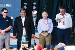 Denis Coderre, Mayor of Montreal, Jean Todt, FIA President, and Alejandro Agag, Formula E CEO, celeb