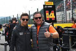 Zak Brown, McLaren Executive Director and Lando Norris, McLaren Young Driver