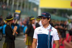 Lance Stroll, Williams, on the drivers parade