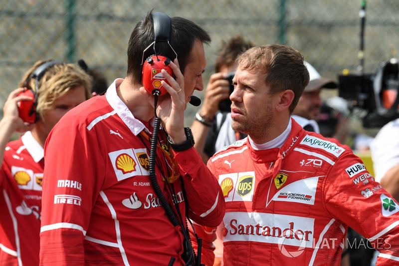 Adami, Ingeniero de carrera de Ferrari y Sebastian Vettel, Ferrari