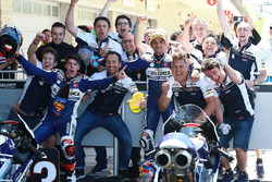 Second place Jorge Martin, Del Conca Gresini Racing Moto3, third place Fabio Di Giannantonio, Del Co