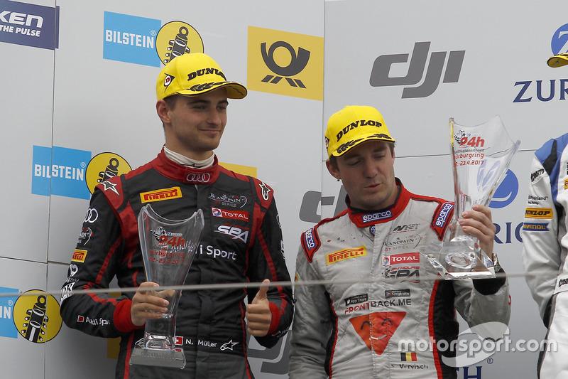 Podium: 2. #9 Audi Sport Team WRT, Audi R8 LMS: Nico Müller, Frederic Vervisch