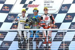Podium: race winner Franco Morbidelli, Marc VDS, second place Thomas Luthi, CarXpert Interwetten, th
