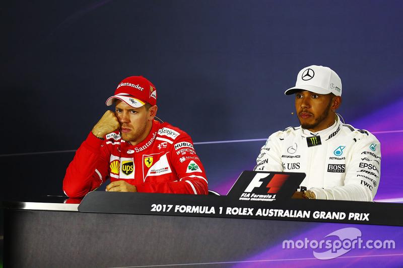 Sebastian Vettel, Ferrari, Lewis Hamilton, Mercedes AMG