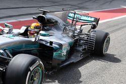 Lewis Hamilton, Mercedes AMG F1 W08 aero sensörleri ile