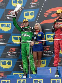 Podium: second place Mark Winterbottom, Prodrive Racing Australia Ford