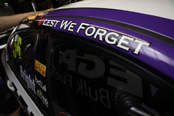 Lest we forget on the car of Jason Bright, Prodrive Racing Australia Ford