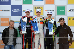 Podium: Race winner Callum Ilott, Prema Powerteam, Dallara F317 - Mercedes-Benz, second place Joel Eriksson, Motopark, Dallara F317 - Volkswagen, third place Lando Norris, Carlin, Dallara F317 - Volkswagen with Felix Rosenqvist and Gustavo Menezes