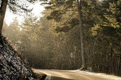 Verschneite Straßen