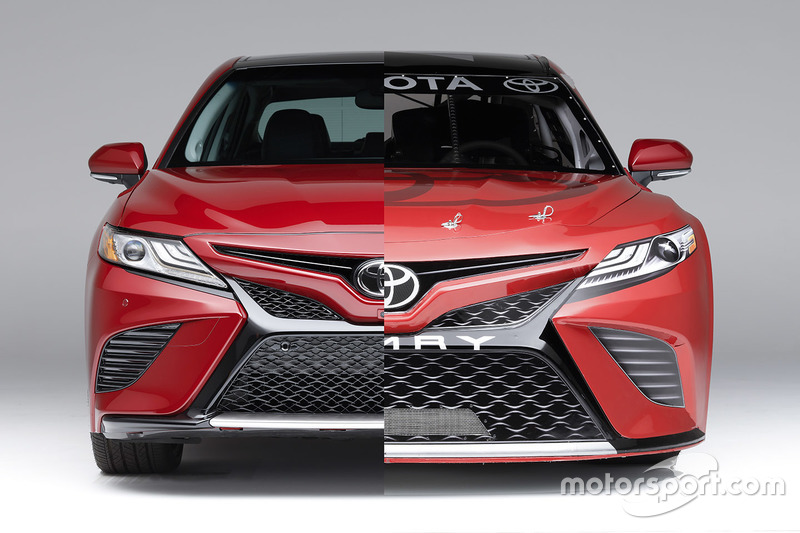 toyota unveils all new look for nascar camry. Black Bedroom Furniture Sets. Home Design Ideas