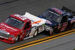 J.J. Yeley, AM Racing Toyota, Joe Nemechek, SWM-NEMCO Motorsports Chevrolet