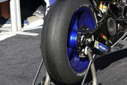 Michelin-Reifen am Motorrad von Jorge Lorenzo, Yamaha Factory Racing, nach dem Rennen