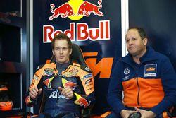Mika Kallio, Red Bull KTM Factory Racing, et son ingénieur Paul Trevathan
