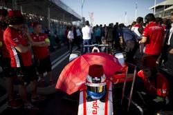 The helmet of Felix Rosenqvist, Mahindra Racing