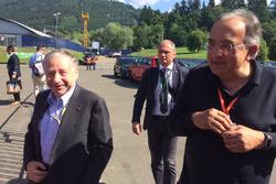 Jean Todt, presidente FIA e Sergio Marchionne, Presidente Ferrari e CEO di Fiat Chrysler Automobiles
