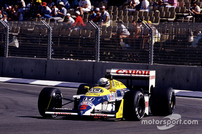 #5 : Riccardo Patrese, Williams FW11B, Honda