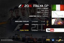 F1 2016 İtalya GP Sanal Turnuvası