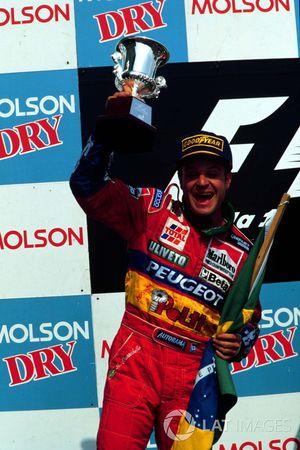 Podium: second place Rubens Barrichello, Jordan