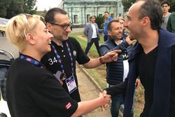 Tadeusz Koziol e Monika Sikora, equipaggio della Mercedes 300 SL Coupe W 198, con Robert Kubica